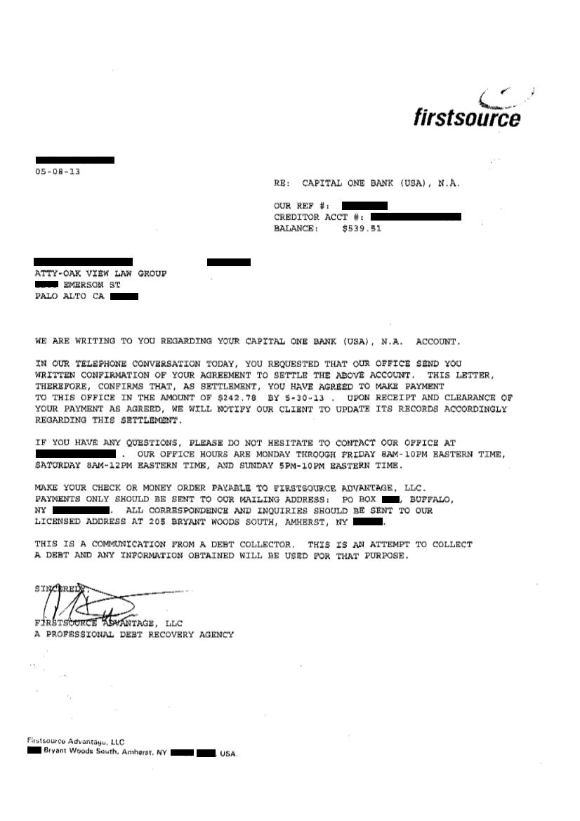 Sample settlement letters sonundrobin sample settlement letters spiritdancerdesigns Choice Image