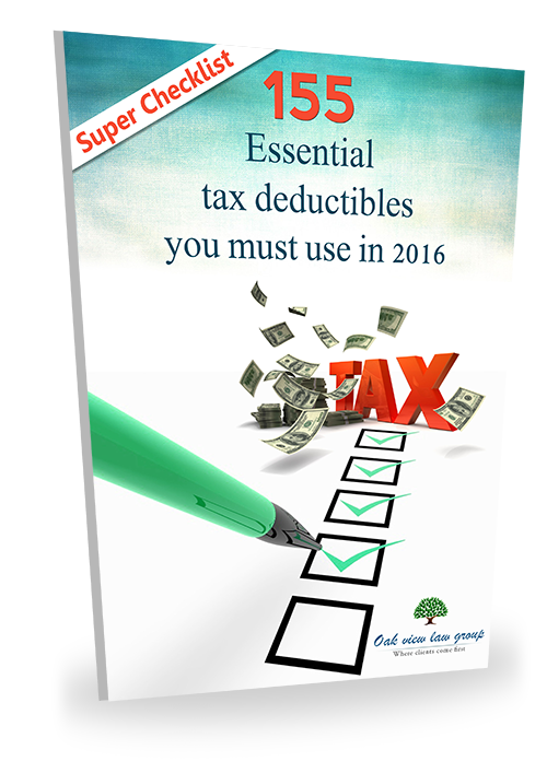 155 Essential tax deductible checklist you must use in 2016