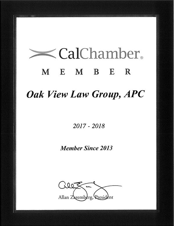OVLG: Member of California Chamber of Commerce