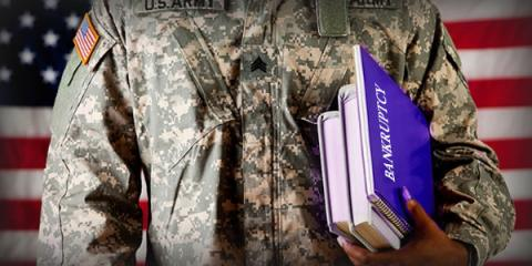 Can I file for bankruptcy while in the military?