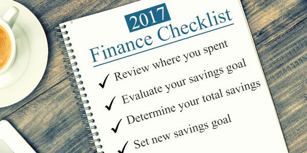 2017 Year-end personal finance checklist to become financially organised
