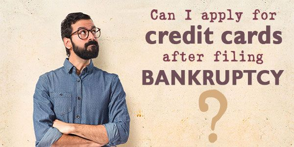 Can you apply for credit cards after filing bankruptcy?