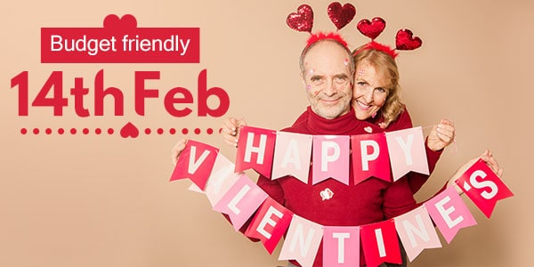How can you celebrate Valentine's Day frugally?