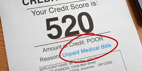 how medical debt affects credit score