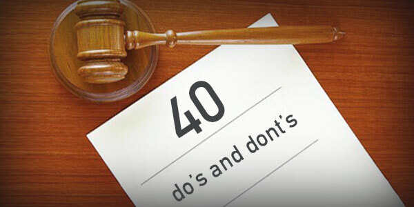 40 Dos and don'ts for bankruptcy filers in 2015