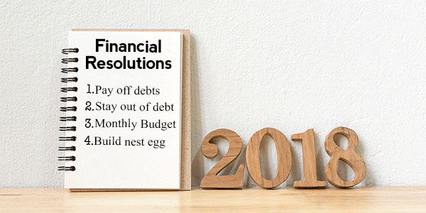 Best financial resolutions for 2018: Paying off debt tops the list