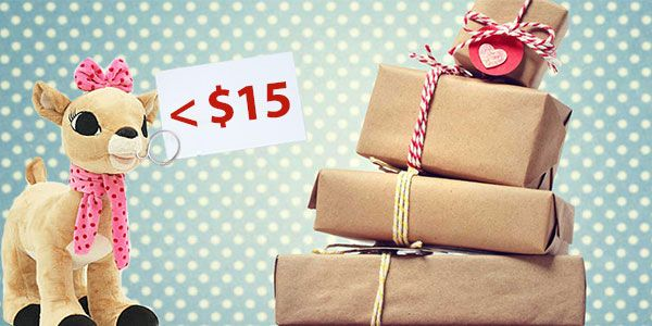 Enjoy Christmas without upsetting your wallet: get gifts under $15