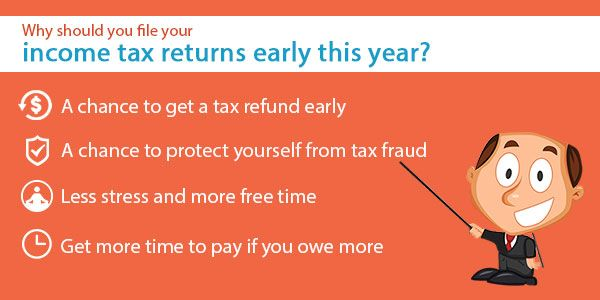 Why should you file your income tax returns early this year?