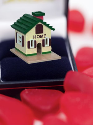 Buy a home together on this valentine's day to strengthen your love bond.