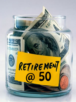 Calling it quits at the age of 50 can slice your retirement money into half. So tread carefully.