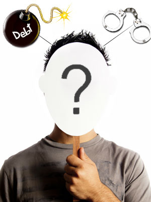 Double troubles for identity theft victims- debts and imprisonment.