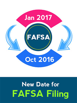 Hurry up! Fill out the FAFSA forms with your 'prior-prior' tax information on October 1, 2016