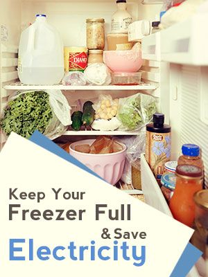 Keep Your Freezer Full to Save Electricity