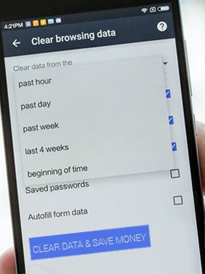 clear browsing cache
