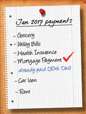 Make January's Mortgage Payment Before December 31 and Save Money