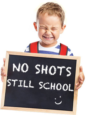 no shots but you can go to school