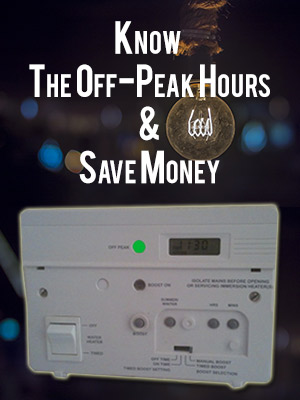 save electricity in the off-peak hour