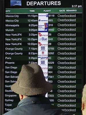 bumped due to flight overbooking