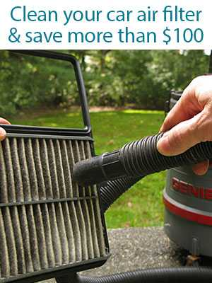 Clean Car Air Filter