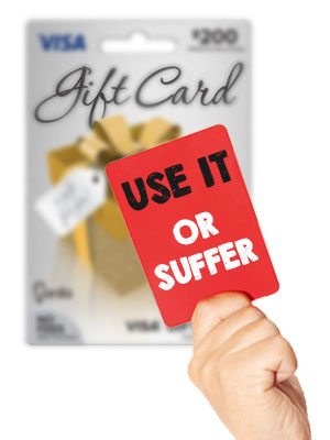 Use gift card within a year to avoid dormancy fees