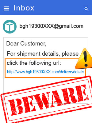 Ignore bogus shipping alerts to avoid holiday scams