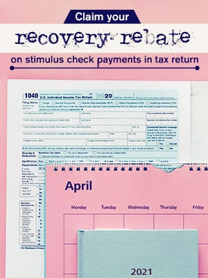 Claim Your Recovery Rebate On Stimulus Check