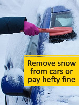 remove snow from car