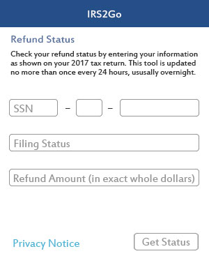 where is my refund app