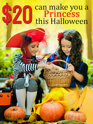 Be a princess this Halloween at only $20