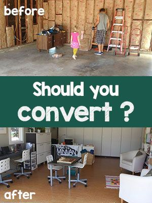 illegal to convert garage into living room