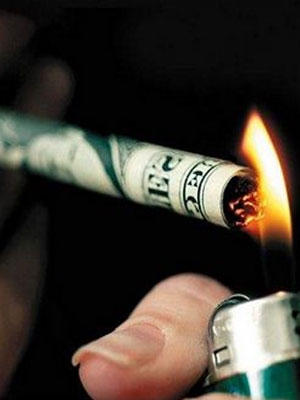 Stop smoking to save money.