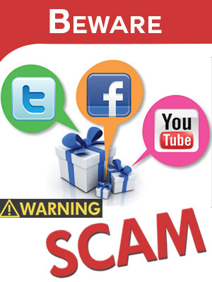 Don't get lured by giveaway contests in social media and give your card details. Be vigilant.