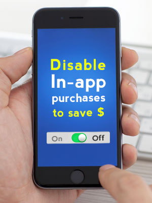 Disable the in-app tap to save your wallet