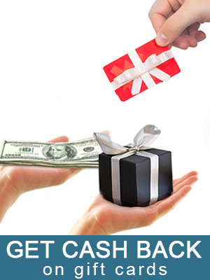 Get cash back on gift cards even if it's a small balance