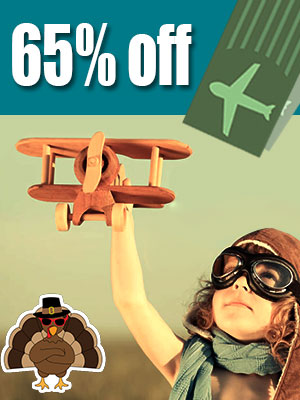 Travel on Thanksgiving Day to save upto 65% on airline tickets