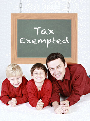 Get tax exemptions on the amount you're using for raising your children