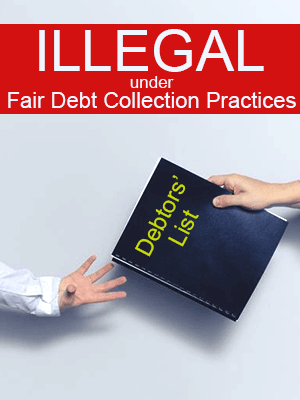 Debt Collectors Disclose Your Debts