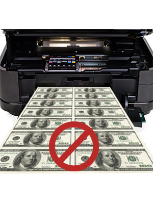 Do not replicate US currency