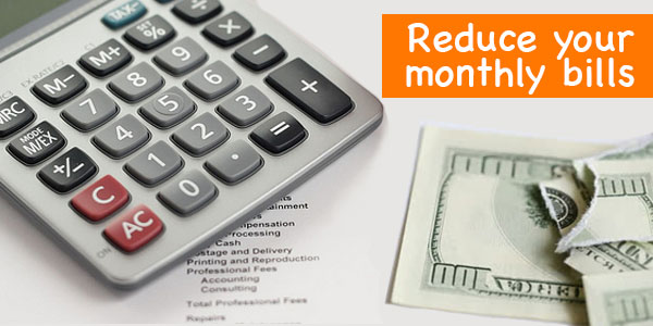 Accelerate the debt busting momentum by reducing your monthly bills