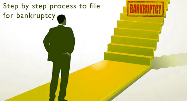 Step by step process to file for bankruptcy