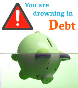 Warning signs that you are drowning in debt