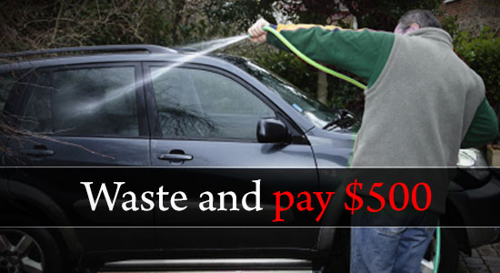 Waste water and pay $500 – The new law in California due to the prolonged dry spell