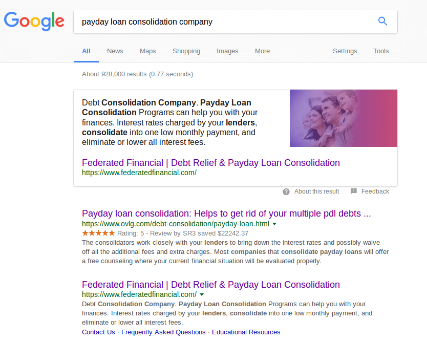 Does consolidating payday loans work